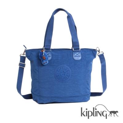 Kipling 斜背包 深藍素面-大