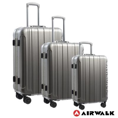 AIRWALK LUGGAGE - 金屬森林 鋁框行李箱 20+24+28吋兩件組-碳鑽灰