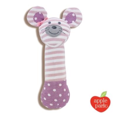 美國 Apple Park 農場好朋友系列 有機棉安撫啾啾棒 - 芭蕾鼠娘