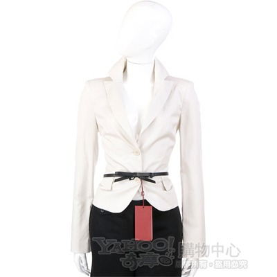 PAOLA FRAN 米白色雙釦西裝外套(不含腰帶)