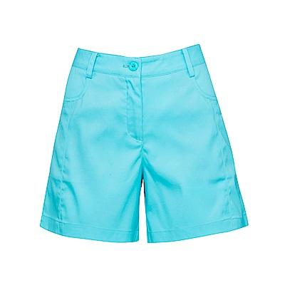 FILA 女超潑水平織短褲-翠藍 5SHS-1721-AQ