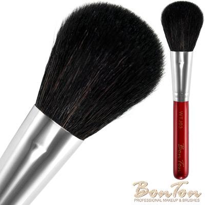 BonTon 湛紅短柄 扁腮紅刷 WTJ03 特級尖峰黑羊毛