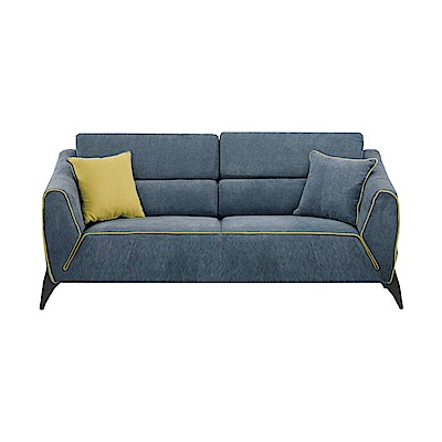 品家居 亞摩斯絲絨布實木沙發三人座-191x91x80.5cm-免組