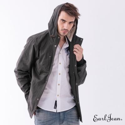 Earl Jean 連帽大口袋軍裝夾克-灰色-男