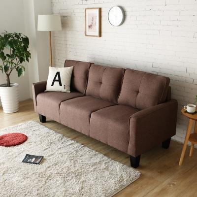 H&D 波比簡約舒適三人沙發-3色可選