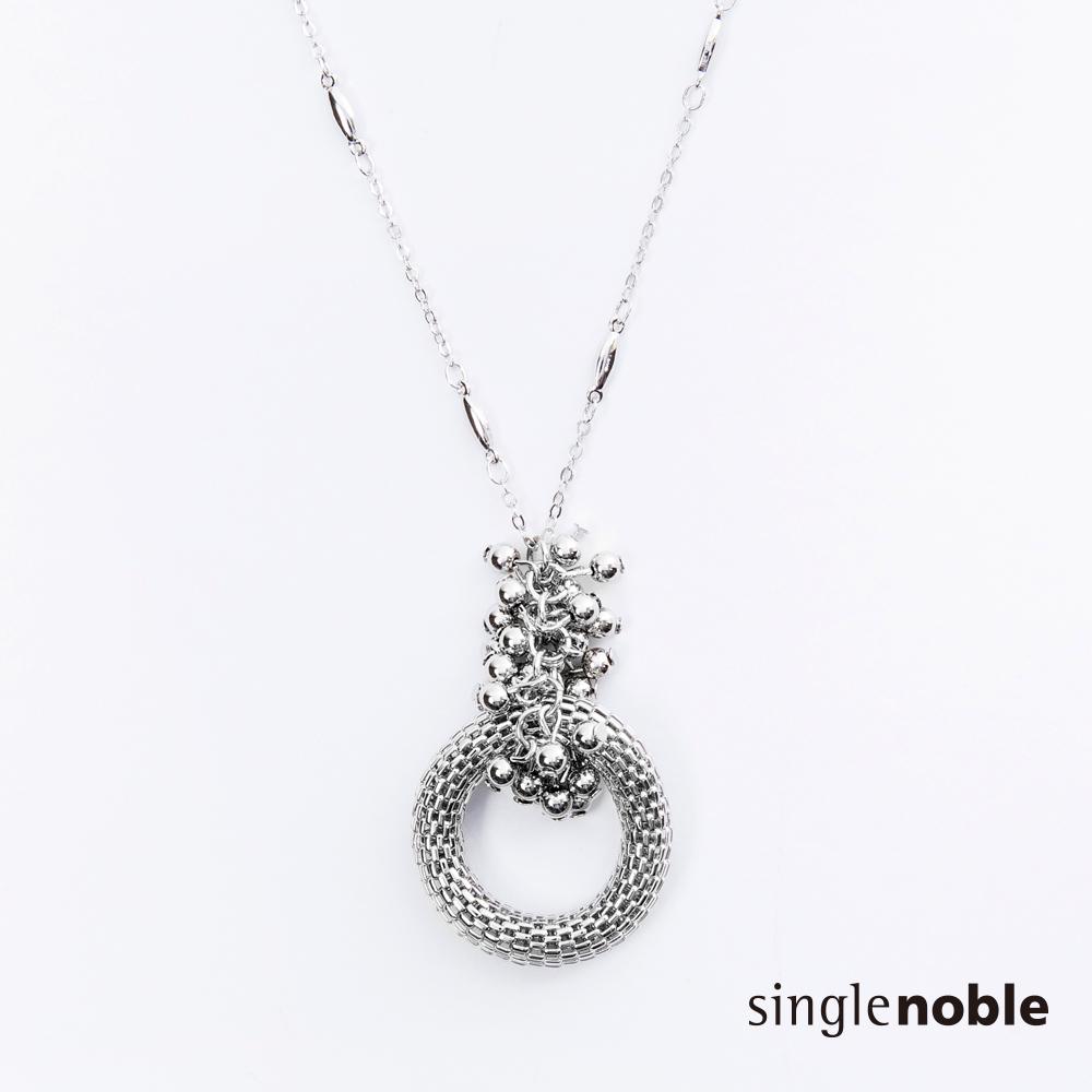 獨身貴族 法式女人立體鏤空圓環長鍊(1色)