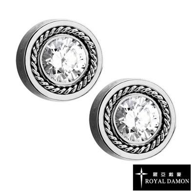 Royal Damon羅亞戴蒙 纏綿美鑽 耳環(銀)