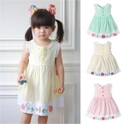 baby童衣 氣質甜心造型花編無袖洋裝 60077