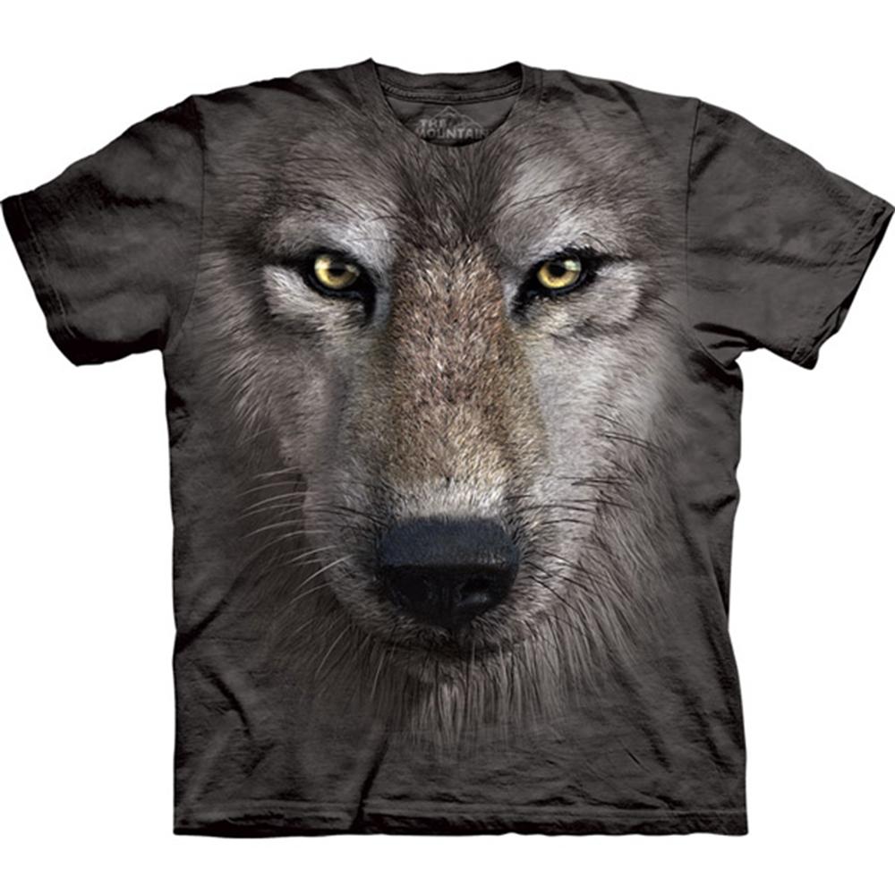 摩達客 美國進口The Mountain狼臉 純棉短袖T恤