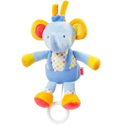 德國NUK絨毛玩具-小象音樂拉鈴玩偶