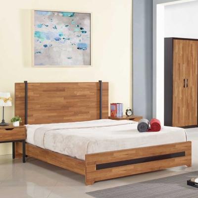 AT HOME - 亞瑟5尺柚木基層雙人床(不含床墊)