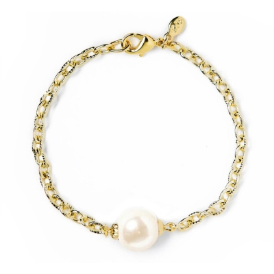 Kiel James Patrick 珍珠系列單顆珍珠金色金屬手鍊 PEARLY PERF