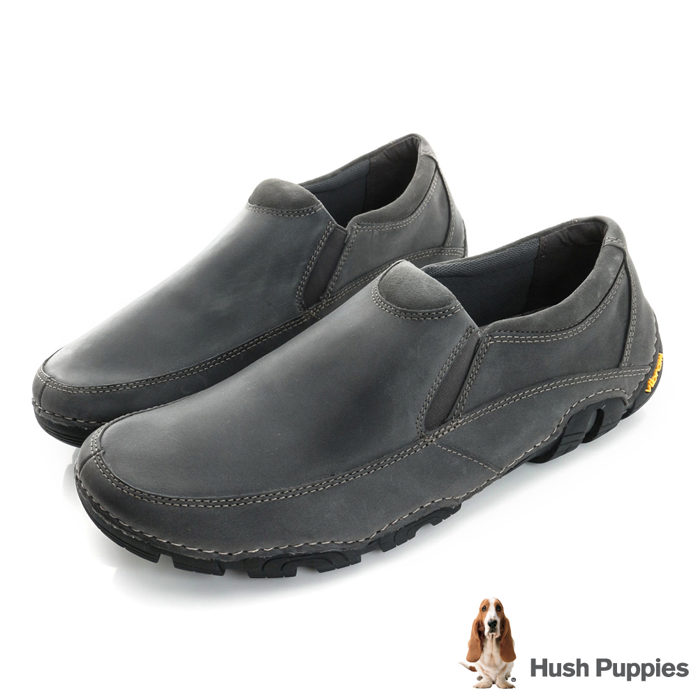 Hush Puppies FULLE 黃金大底直套式休閒鞋-灰色