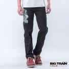 BIG TRAIN 繡花絨布小直筒-黑