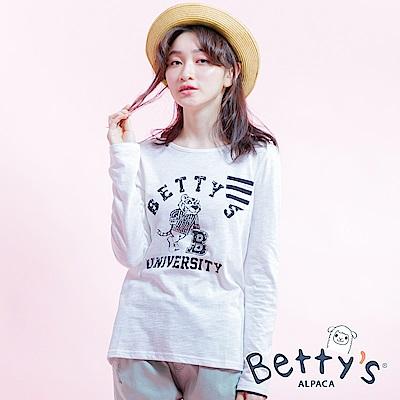 betty's貝蒂思 字母印花學院風T-shirt(白色)