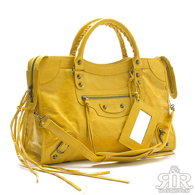 好康-2R-牛皮石紋機車包-芥茉黃