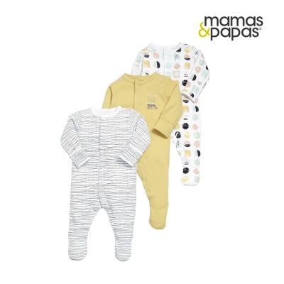 Mamas & Papas WTTW幾何哈密瓜-連身衣3件組