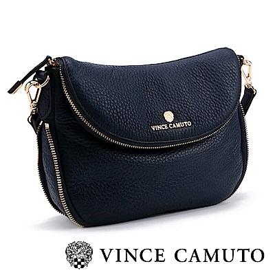 Vince Camuto 質感真皮長型側背包-深藍