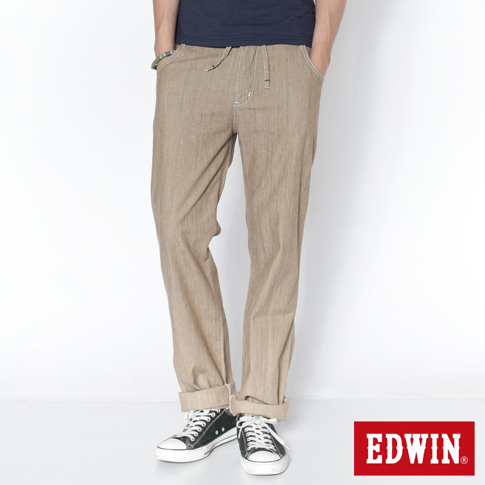 EDWIN EASY PANTS中直筒休閒褲_男_淺卡其