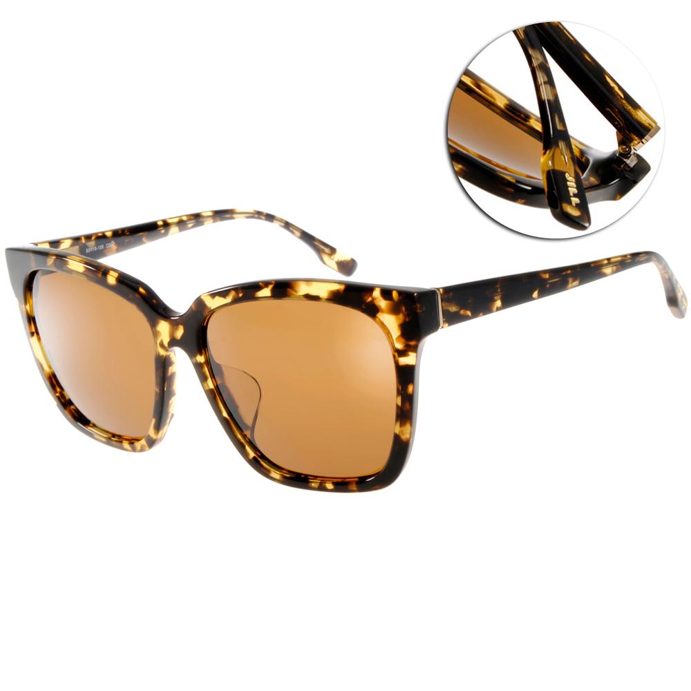 JILL STUART偏光太陽眼鏡 時尚大方框/玳瑁黃#JS20001X C02P