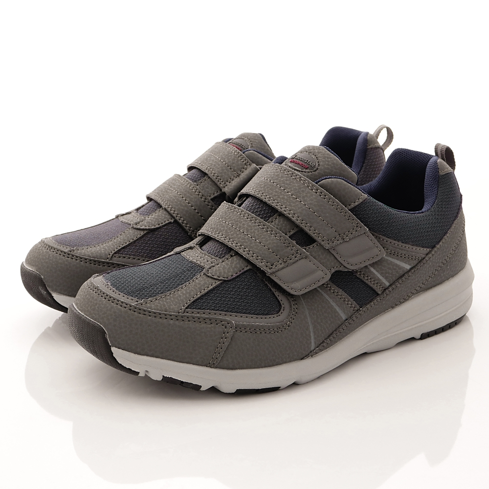 日本Supplist戶外健走鞋-靜態防水4E寬楦款-ON737灰(男段)