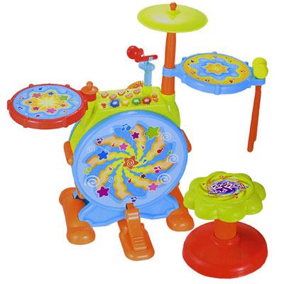 《Dynamic Jazz Drum》電子觸碰組裝式音樂動感爵士鼓