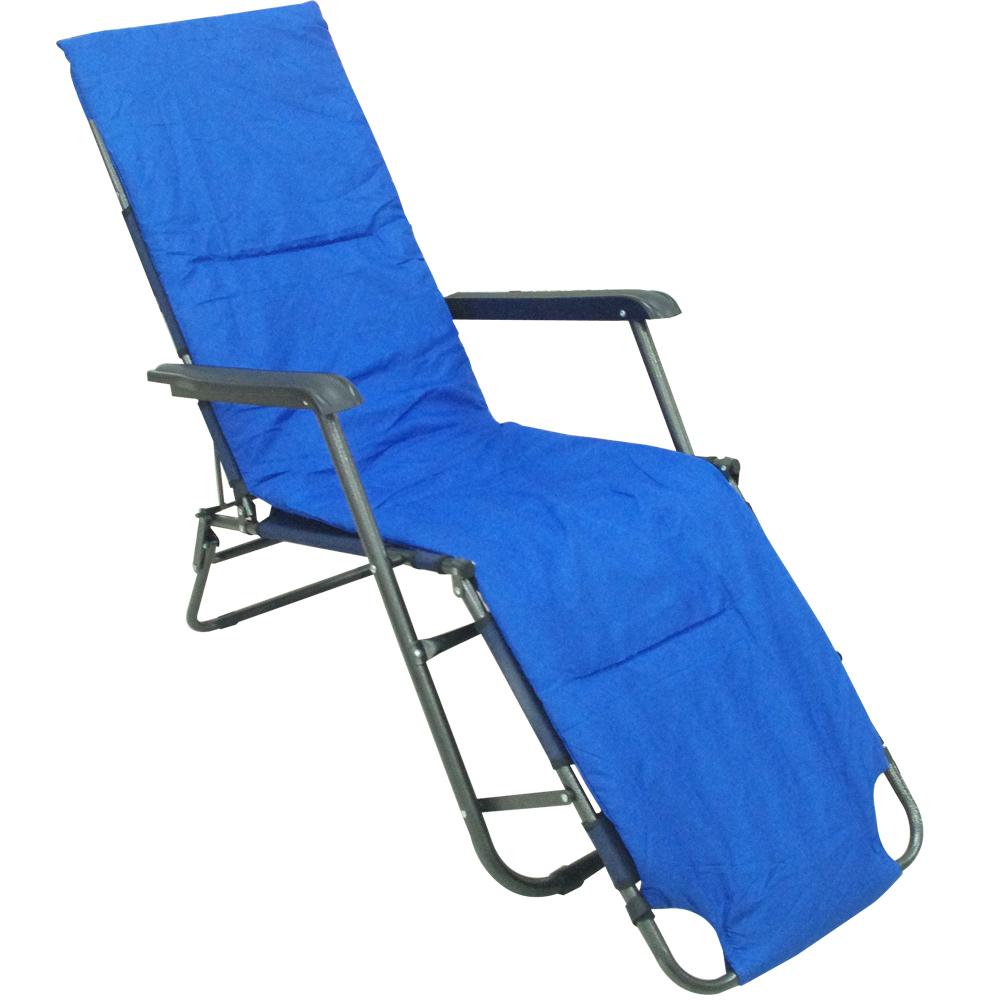600D牛津布坐躺兩摺疊休閒躺椅+溫暖舒適墊
