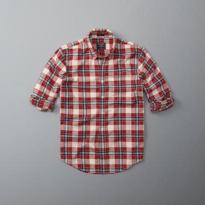 AF a&f Abercrombie & Fitch 長袖 襯衫 紅色 0142