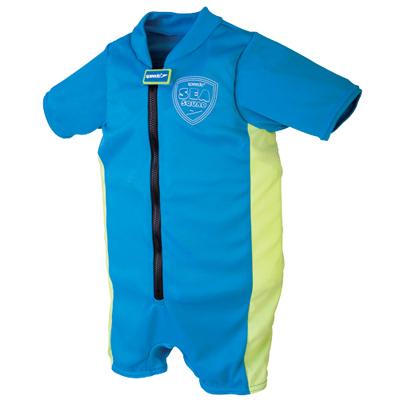 Speedo-兒童-整件式浮力衣Sea-Squad-藍-綠