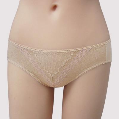 瑪登瑪朵-我罩你簡約時尚-低腰寬邊三角萊克褲-奶油褐