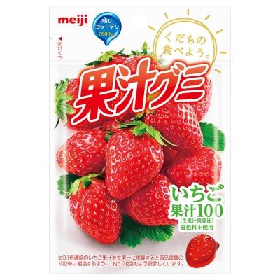 (活動)明治 果汁QQ軟糖-草莓(51g)
