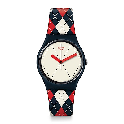 Swatch 英倫風情 SOCQUETTE 英倫格紋手錶