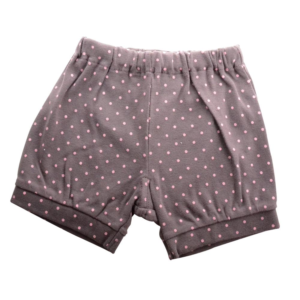 【Anna Nicola】日本製-點點花樣鬆緊短褲(灰)