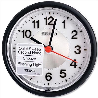 SEIKO 精工 小型居家美學 滑動式秒針 靜音鬧鐘 (QHE159K)
