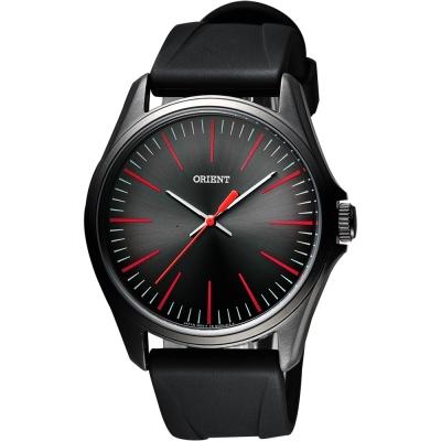 ORIENT 簡約日系休閒石英腕錶-黑/43mm