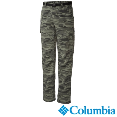 【Columbia哥倫比亞】男-快排防曬50迷彩長褲-綠迷彩 UAM86850NC