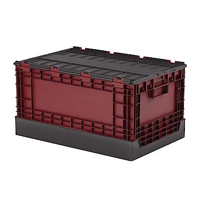 創意達人x樹德栗林掀蓋摺疊物流箱1入組