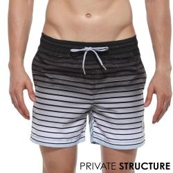 P.S 極簡黑白條紋漸層海灘褲,Private Structure