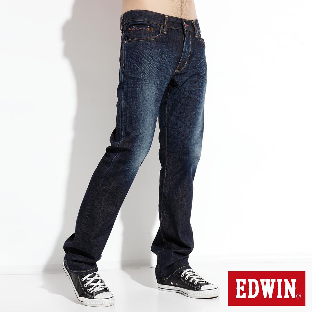 EDWIN 503 EDGE伸縮直筒牛仔褲-男款(原藍磨)