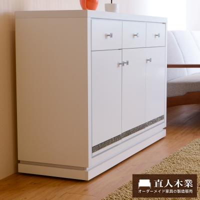 日本直人木業-CARO白色美學120公分廚櫃