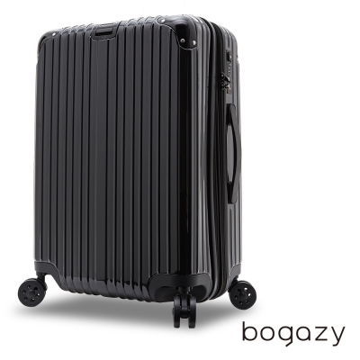 Bogazy 花漾甜心20吋PC可加大鏡面行李箱(神秘黑)
