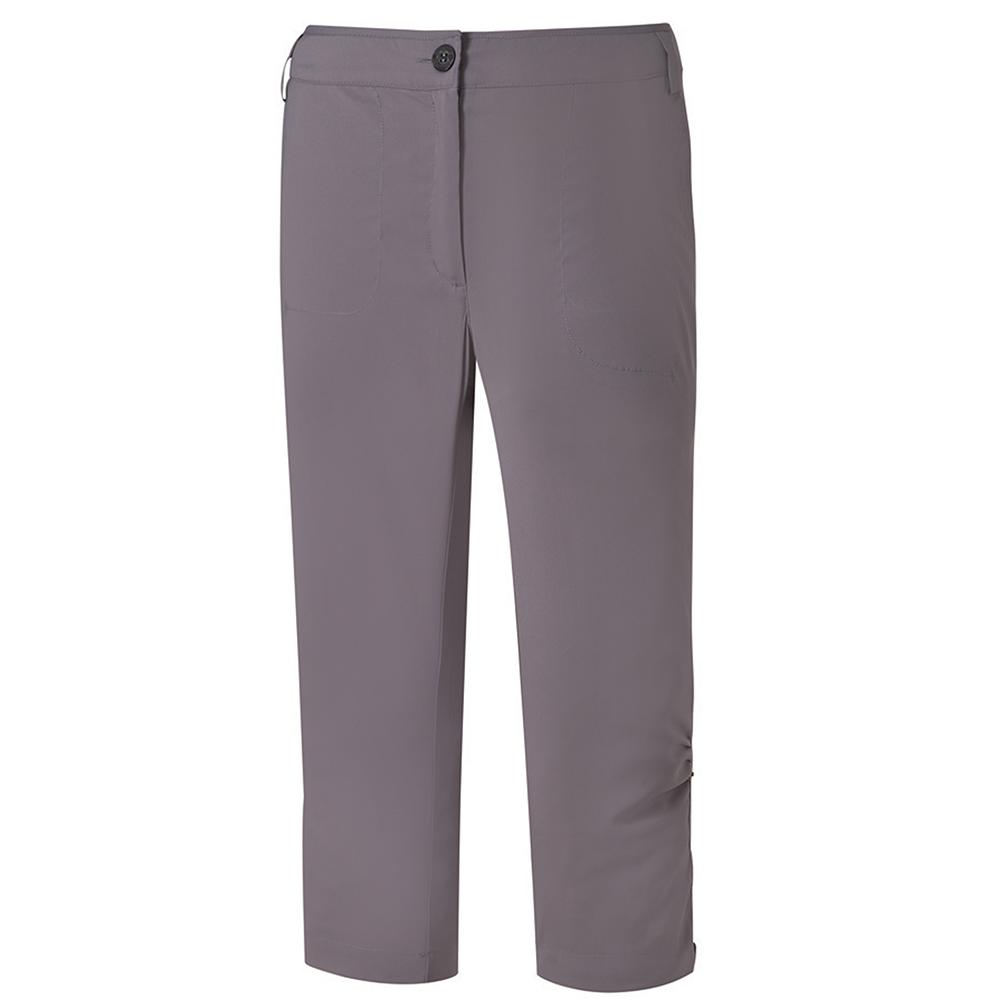 【ATUNAS 歐都納】女款防曬彈性透氣休閒七分褲 A-PA1608W 灰