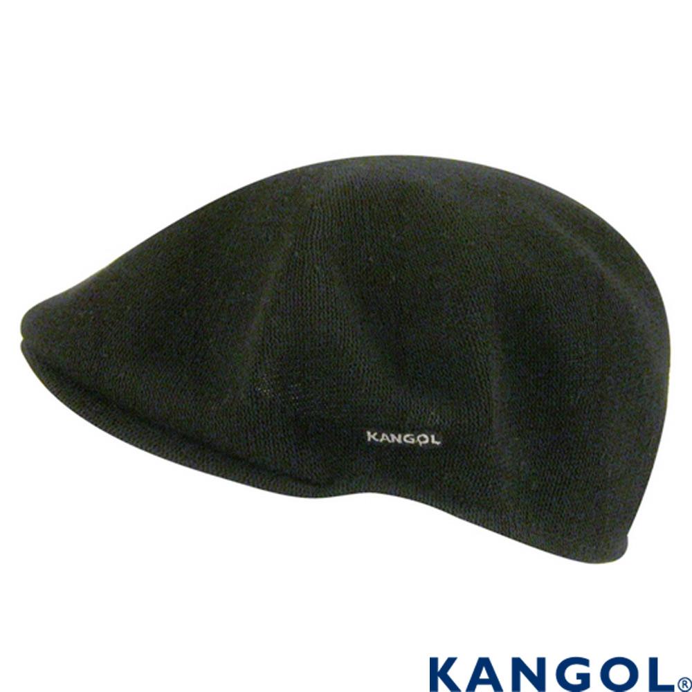 KANGOL-英國袋鼠-14經典鴨舌帽-黑色