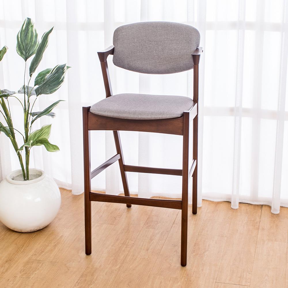 Bernice-莫理斯實木吧台椅/吧檯椅/高腳椅(高)52x62x108cm