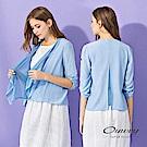 OUWEY歐薇 活片層次剪裁輕薄小外套(白/藍)