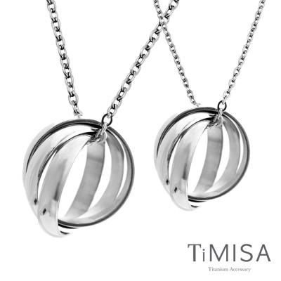 TiMISA《環繞幸福》純鈦情人對鍊/成對項鍊