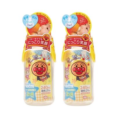 麵包超人-標準型奶瓶240ml+十字孔(3m+)-2組