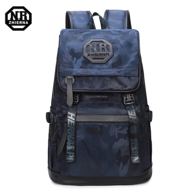 BAC03  BU藍色 NR14吋韓版時尚迷彩休閒電腦後背包