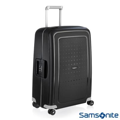 Samsonite新秀麗-30吋S-39-CURE四輪PP硬殼TSA扣鎖行李箱-黑