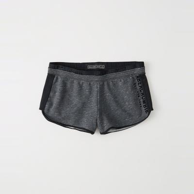 A&F 經典文字設計短棉褲(女)-深灰色 AF Abercrombie